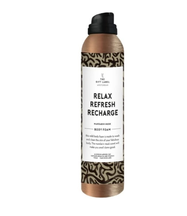 The Giftlabel Body foam - Relax, refresh, recharge