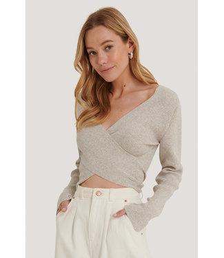 NAKD Crossover sweater grijs