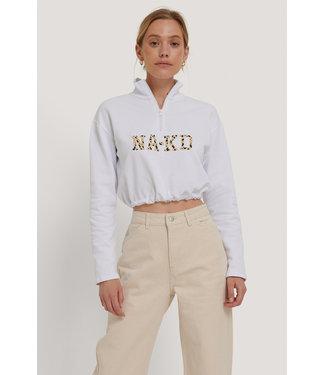 NAKD Cropped Sweater wit