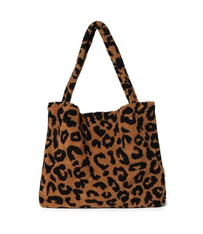 STUDIO NOOS Mom bag- teddy leopard brown