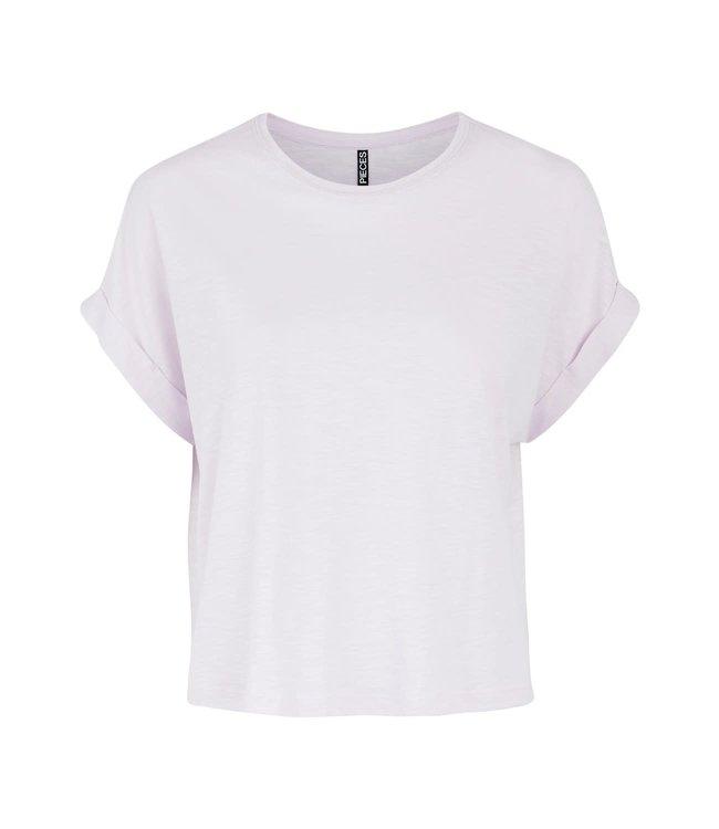 PIECES Lizzy boxy tshirt lounge lavendel