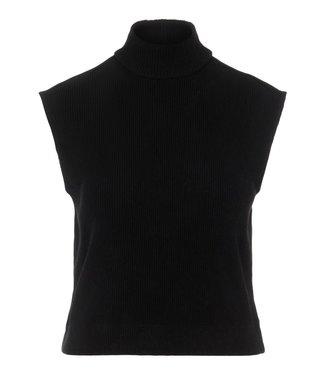 PIECES Grynetta high neck top zwart
