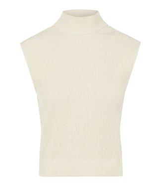 PIECES Grynetta high neck top beige