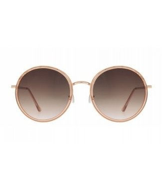Charly Therapy Janis round oversized peach sunglasses