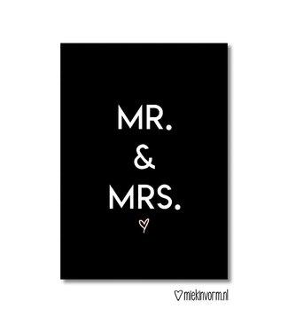 Miek in Vorm mr & mrs