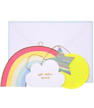 MERI MERI Rainbow kaart - Get well soon