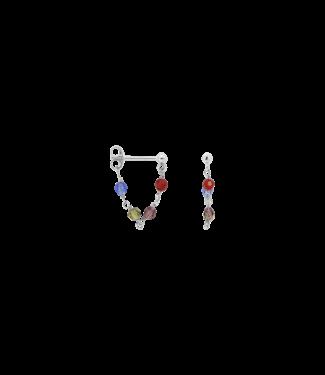 ANNA NINA Single Muse Chain Earring Silver