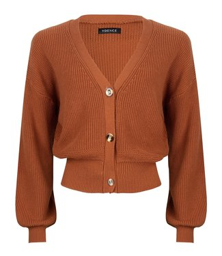 Ydence Marley knitted cardigan rust