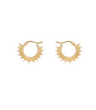 ANNA NINA Rising Sun Ring Earrings goldplated
