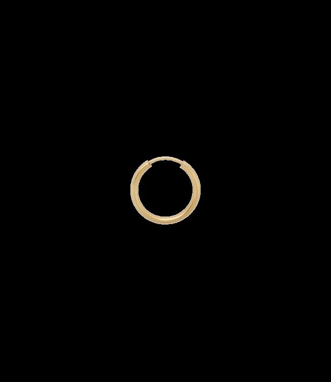 ANNA NINA Single Thick Plain Ring Earring L  Goldplated
