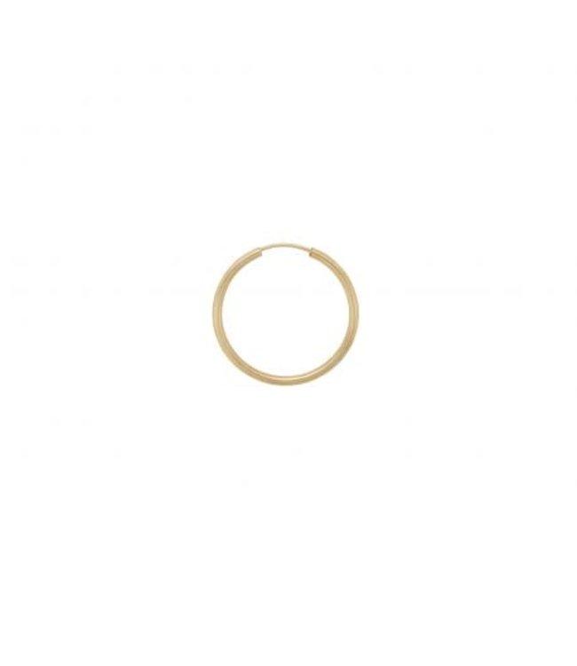 ANNA NINA Single Thick Plain Ring Earring XXL  Goldplated