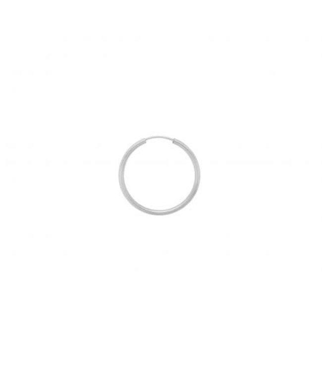 ANNA NINA Single Thick Plain Ring Earring XXL silver