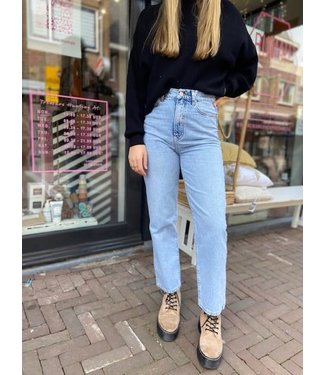 Kendall & Kylie Denim cage  wide high waist jeans