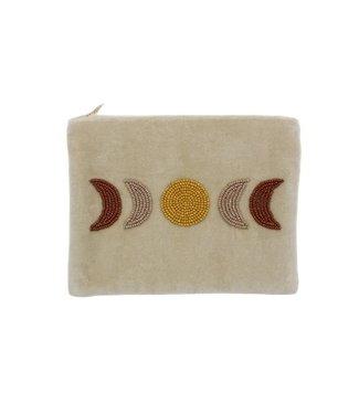 A LA Velvet pouch moonphase