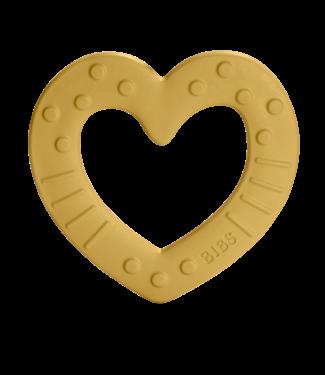 Bibs Bijtring heart mustard