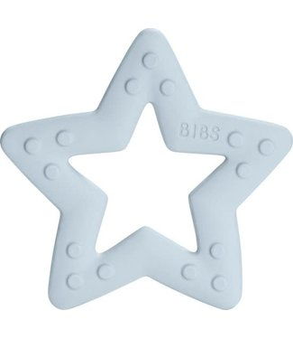 Bijtring star baby blue