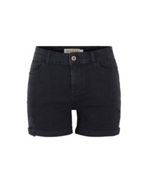 PIECES Lisa Midwaist Destroyed Short jeans black