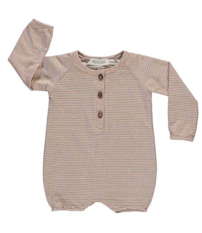 Pexi Lexi Baby jumpsuit long sleeve stripe
