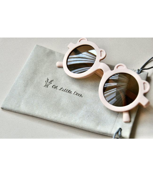 Oh Little Deer Sunglasses Bear Dusty pink