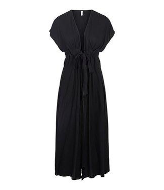 PIECES Linda long kimono black