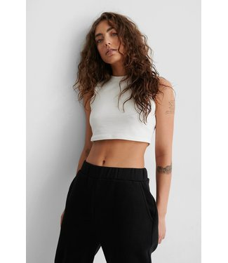 NAKD Stone washed cropped top off white