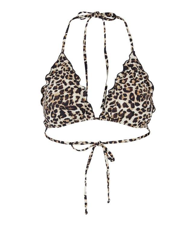 PIECES Bikini Gaby brazil top leopard