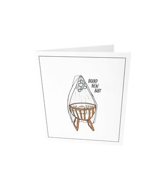 The Giftlabel Greeting card - Brand new baby