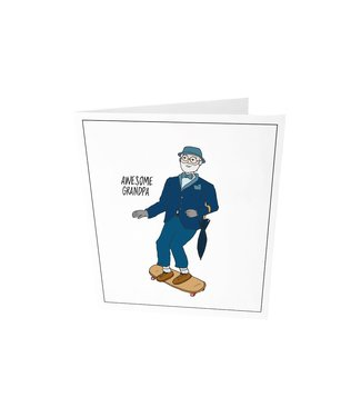 The Giftlabel Greeting card - Awesome grandpa