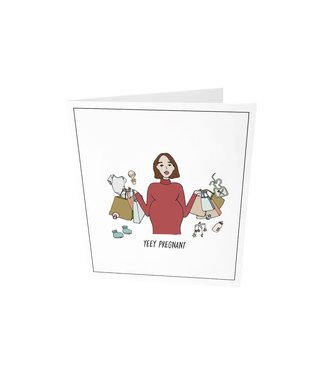 The Giftlabel Greeting card - Yeey pregnant
