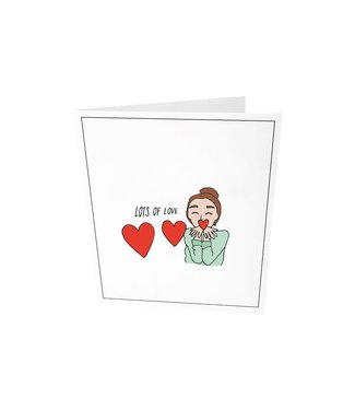 The Giftlabel Greeting card - Lots of love