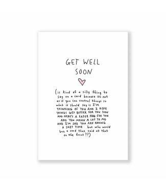 EAT MIELIES Get well soon  kaart