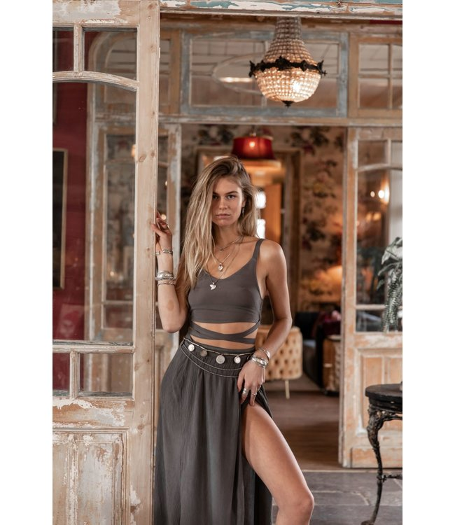 MOOST WANTED Amora top washed grey