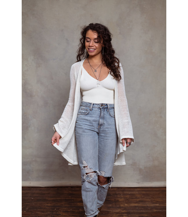 MOOST WANTED Vida knitted vest off white