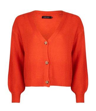 Ydence Cardigan Rowan Coral red