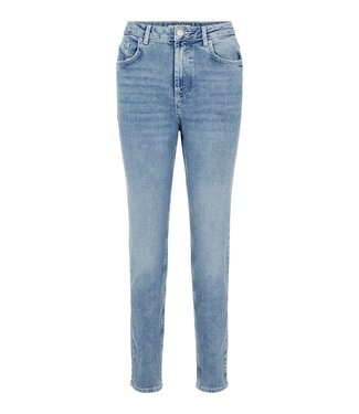 PIECES Leah mom high waist ankle jeans light blue