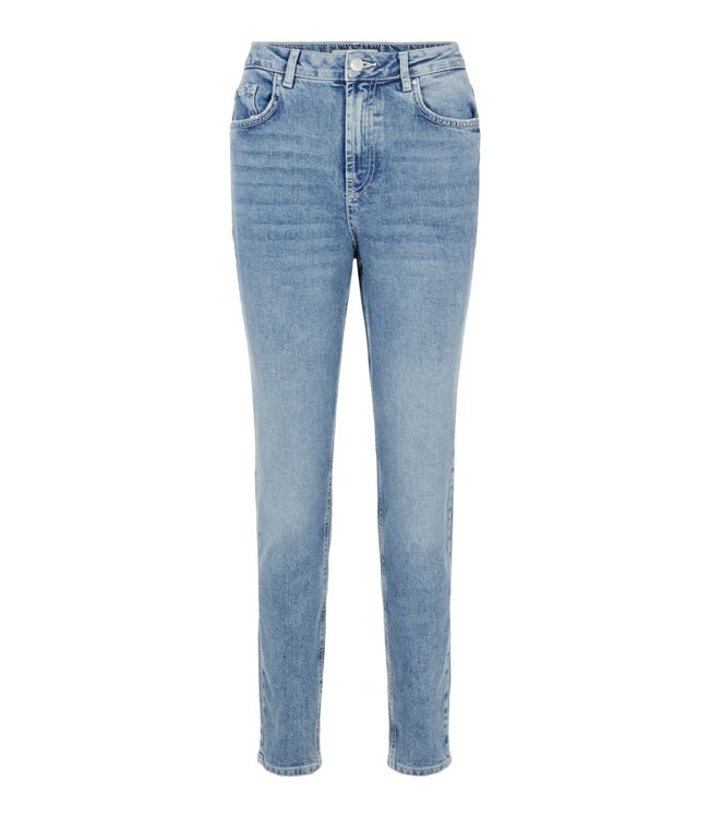PIECES Leah mom high waist ankle jeans light blue