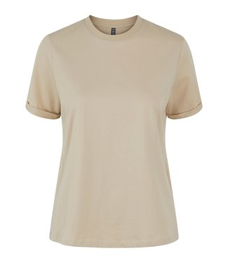 PIECES Pieces Ria SS basic tee white pepper