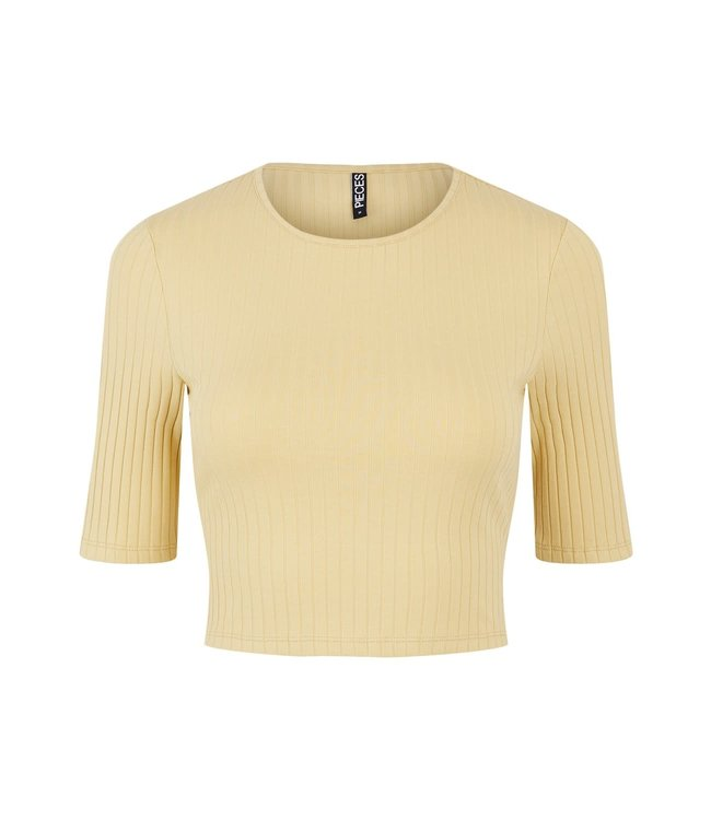 PIECES Tiana cropped top yellow