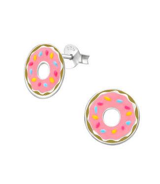 PRECIOUS JEWEL Kinderoorbel donut roze zilver