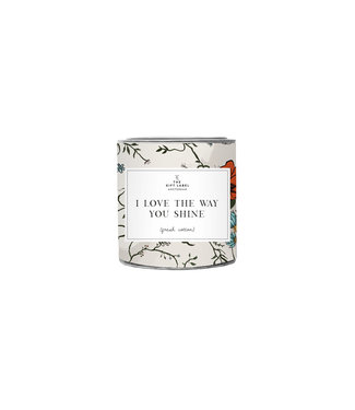 The Giftlabel Candle in tin small -  I love the way you shine