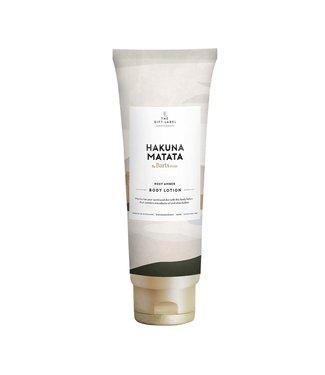 The Giftlabel Bodylotion tube Hakuna Matata - rose amber