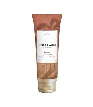The Giftlabel Bodylotion tube Hola guapa- rose amber