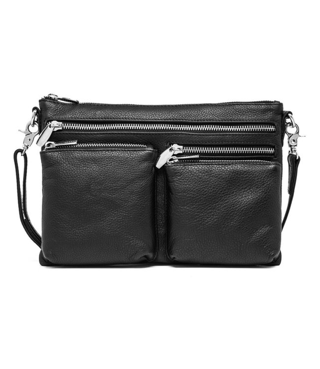 DEPECHE Leather Crossover bag