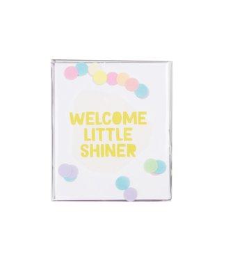The Giftlabel Confetticard - welcom little shiner