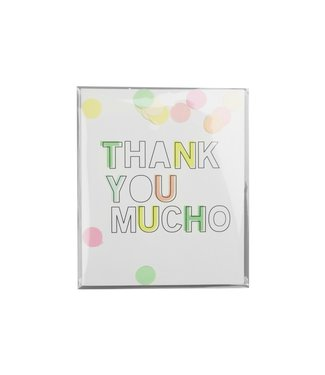The Giftlabel Confetticard - thank you mucho