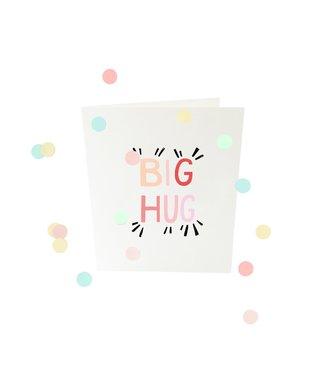 The Giftlabel Confetticard - big hug