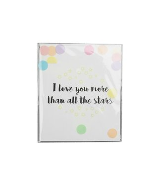 The Giftlabel Confetticard - i love you more than all the stars
