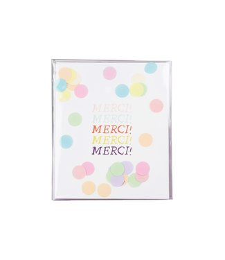 The Giftlabel Confetticard - merci