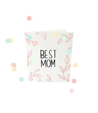 The Giftlabel Confetticard - Best Mom