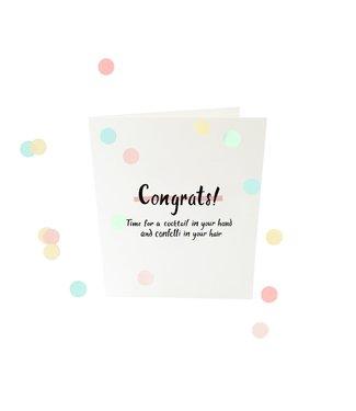 The Giftlabel Confetticard - Congrats